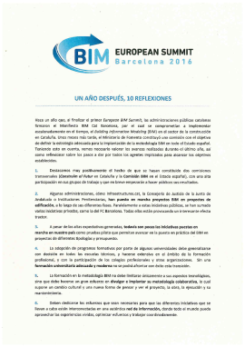 BIM European Summit Barcelona 2016