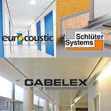 Els productes de les empreses Saint-Gobain Eurocoustic, Schlüter Systems i Saint-Gobain Gabelex s'incorporen al BEDEC