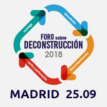 Foro sobre Deconstrucción 2018