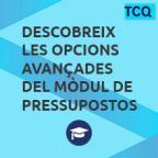 Descobreix les opcions avançades del mòdul de Pressupostos de TCQ