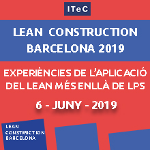 Publicat el programa de la Jornada Lean Construction 2019