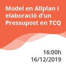 Último webinar del año: Modelo en Allplan y elaboración de un Presupuesto en TCQ