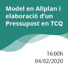 Nou any i nou webinar: Model en Allplan i elaboració d'un Pressupost en TCQ
