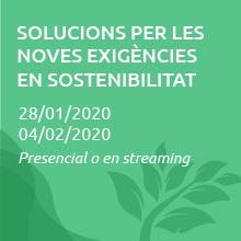 Solucions per a les noves exigències en sostenibilitat